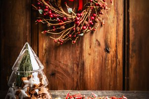 Cozy Christmas in rustic style