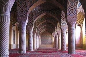 Interior of Nasir ol Molk Mosque, Shiraz
