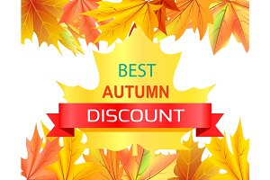 Best Autumn Discount Promo Advertisement on Maple