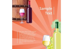 Poster with Icons Sample Text Vector Illustration