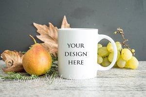 Fall mug mockup