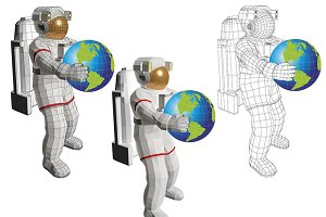 Astronaut with planet earth