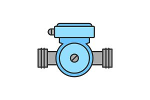 Water pump color icon