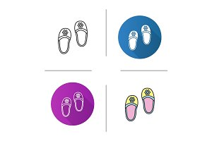 Bedroom slippers icon