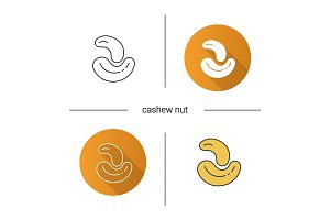 Cashew nuts icon