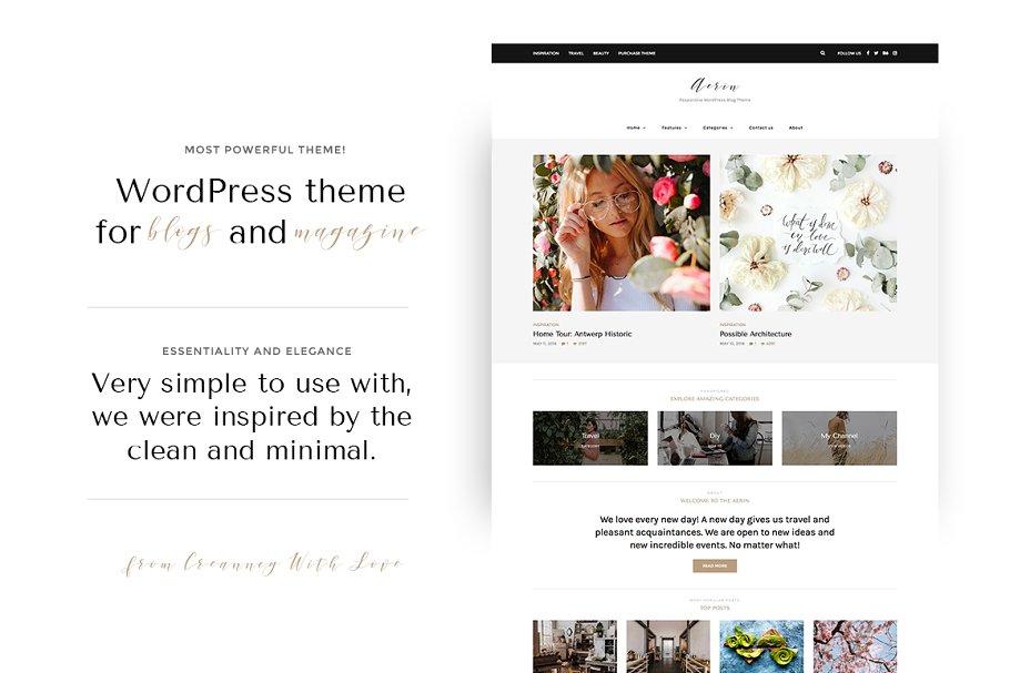 Aerin - WordPress Blog & Shop Theme ~ WordPress Blog Themes