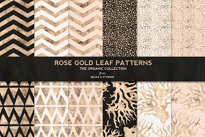 Rose Gold Organic Patterns No.4