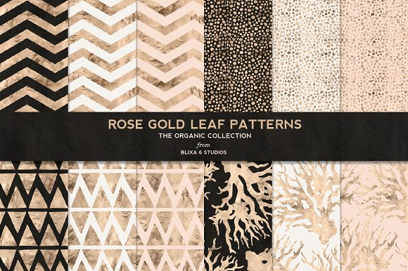 Rose Gold Organic Patterns No.4