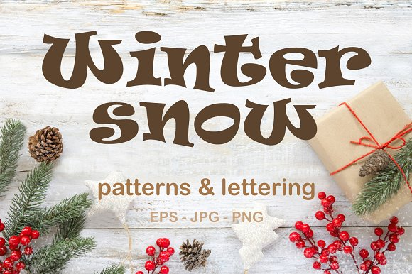 Winter Snow - patterns&lett-Graphicriver中文最全的素材分享平台