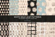 White Gold Foil Natural Patterns