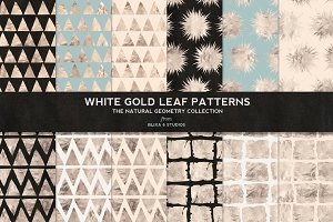 White Gold Foil Natural Patterns