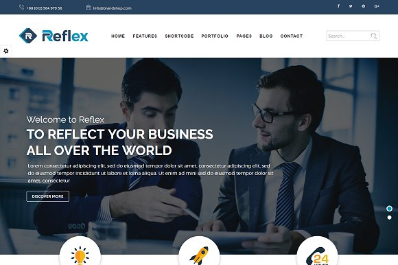 Reflex Corporate WordPress Theme