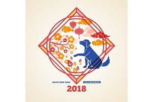 Chinese 2018 New Year Creative Concept