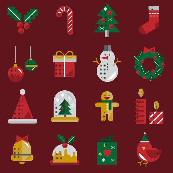 Christmas Vector Icon Set Collection