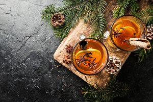 Autumn and winter cocktail - grog