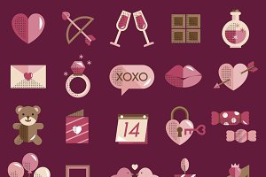 Valentine Vector Icon Set