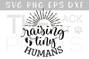 Raising tiny humans SVG DXF EPS PNG