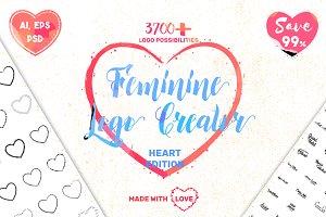 Feminine Logo Creator Kit - Hearts