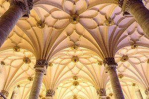 Star-shaped ribbed vaults