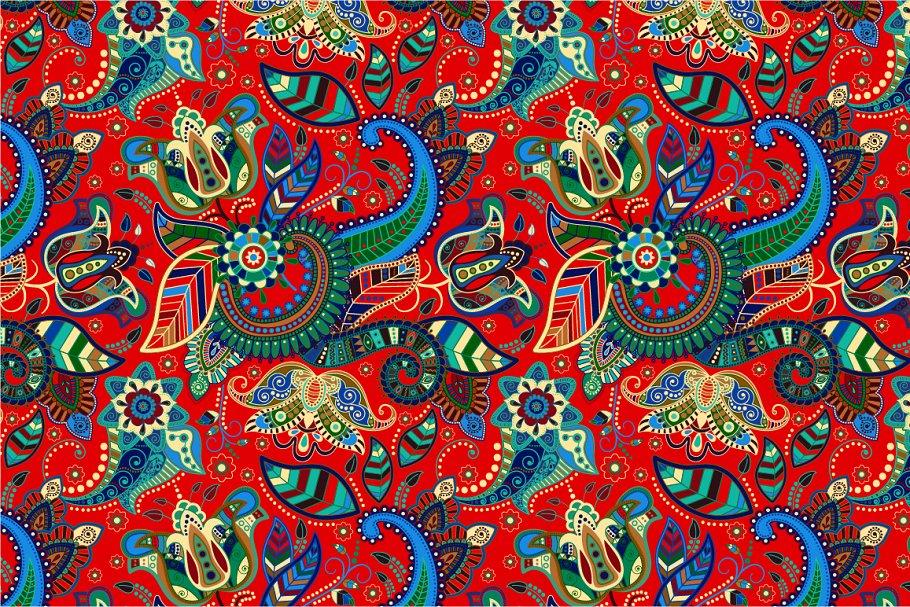 Red seamless Paisley pattern