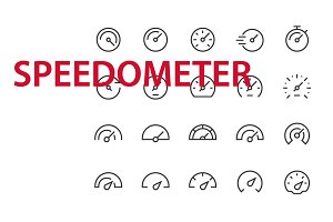 20 Speedometer UI icons