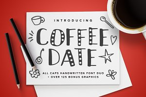 Coffee Date Font Duo + BONUS