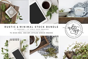 Rustic & Minimal Styled Stock Bundle
