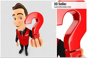 3D Seller Question Mark Icon