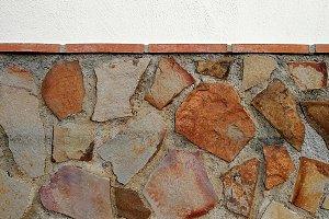 Rusty stone plinth texture