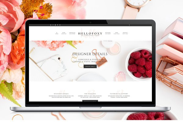 WordPress Business Themes: Hello You Designs - Hello Foxy - WordPress Genesis