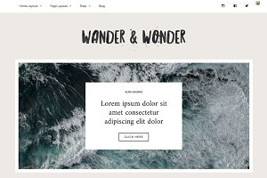 Responsive Wordpress Theme - Wonder