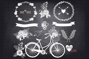 Chalkboard Wedding InvitationClipart