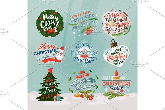 2018 new year and christmas banner or signs
