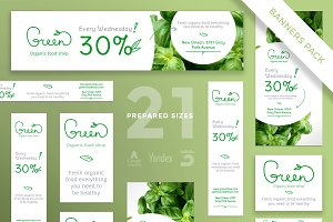 Banners Pack | Green Shop