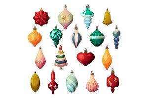 Fir-tree decorations for new year and christmas