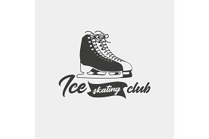 Badge template for ice skating club.