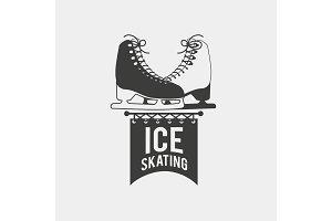 Ice skating badge.