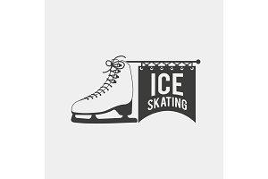 Ice skating logo.