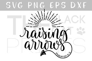 Raising Arrows SVG DXF PNG EPS