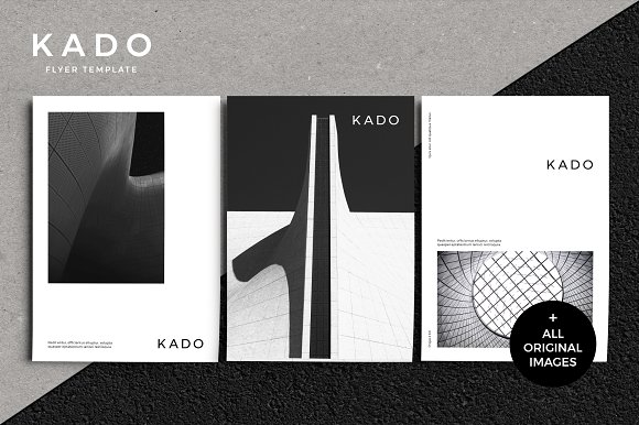 K A D O Flyer Template-Graphicriver中文最全的素材分享平台