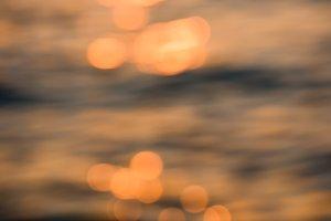 Sunset blur background