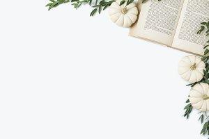 Book Lover Fall Flat Lay