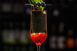 Fancy champagne cocktail
