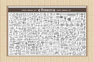 Vector set on the theme of hobbies