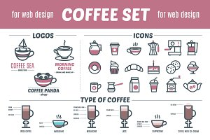 "Set ""Coffee & Sweet Food"" + patterns"