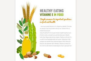 Healthy Food Vitamin E Banner