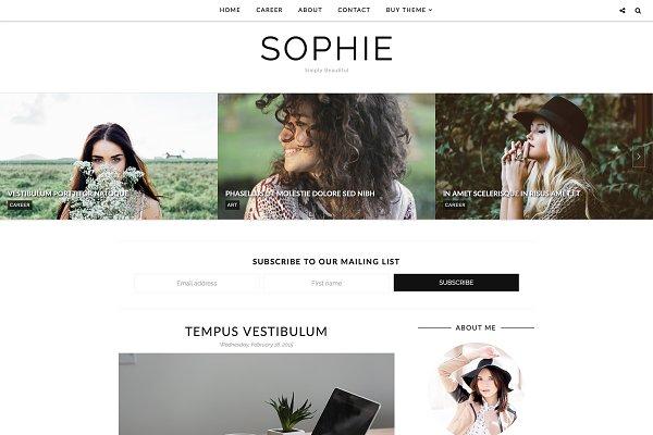 Blogger Theme Responsive - Sophie
