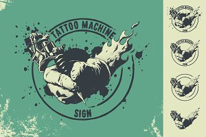 tattoo machine sign