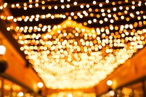 Christmas ilumination bokeh