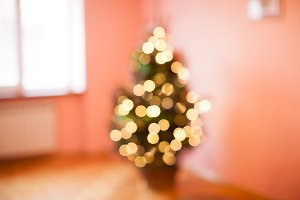 Blurred Christmas tree
